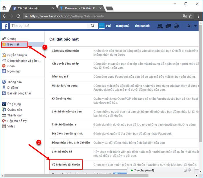 Facebook - Cách xóa thông tin tài khoản cá nhân