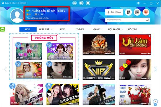 Đổi tên hiển thị TalkTV, thay tên trên TalkTV