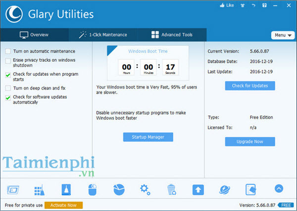 Hướng dẫn cài đặt Glary Utilities, dọn dẹp hệ thống máy tính với Glary Utilities