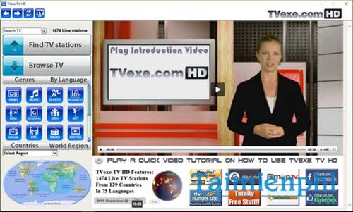Hướng dẫn cài Tvexe TV, phần mềm xem tivi, truyền hình trên máy tính