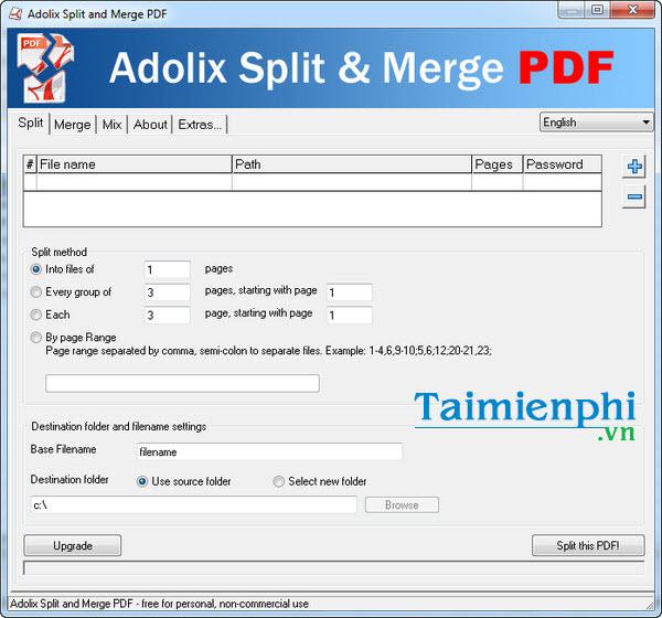install split merge pdf adolix