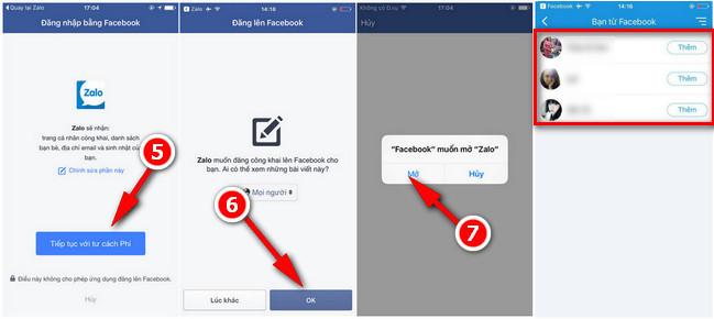 Cách tìm bạn Zalo trên điện thoại bằng Facebook 3