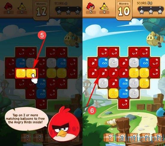 Chơi Angry Birds Blast trên điện thoại, xếp hình theo phong cách Andry Birds