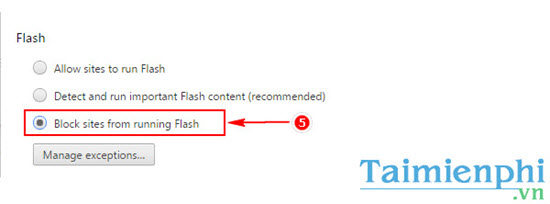 chan flash tren chrome
