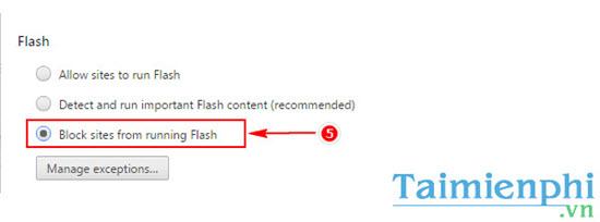 Chặn, tắt Flash trên trình duyệt Google Chrome