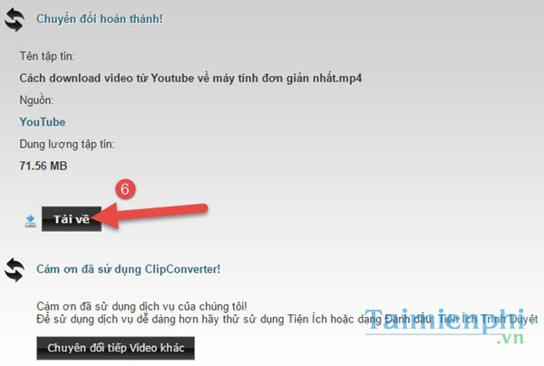 cach tai video youtube ve may tinh dien thoai
