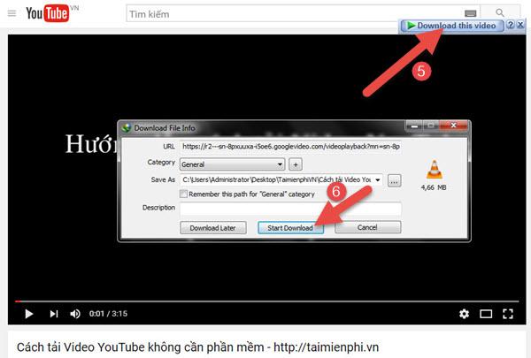 xem video youtube khi tai