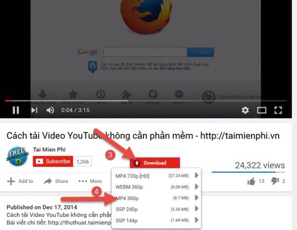 Cách tải Video Youtube về máy tính dùng và không dùng phần mềm hay nhất 26