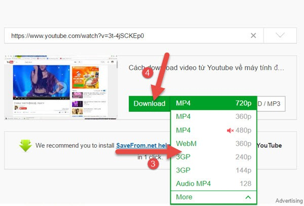 download video tren youtube