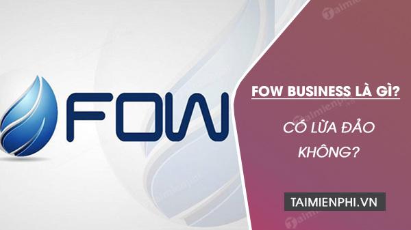 fow business la gi co lua dao khong