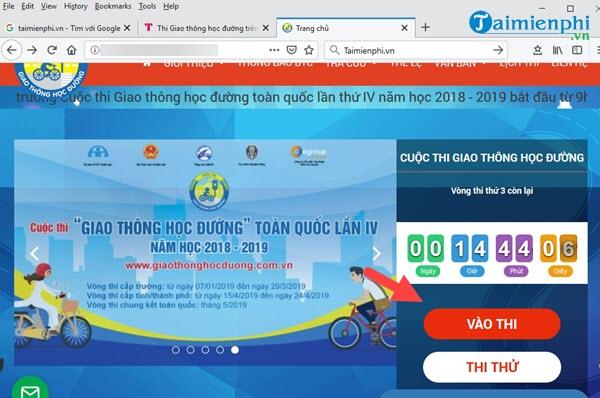 Hướng dẫn thi Giao thông học đường trên giaothonghocduong.com.vn 3