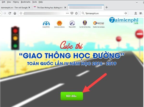 Hướng dẫn thi Giao thông học đường trên giaothonghocduong.com.vn 4
