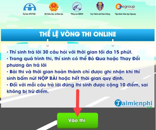 Hướng dẫn thi Giao thông học đường trên giaothonghocduong.com.vn 5