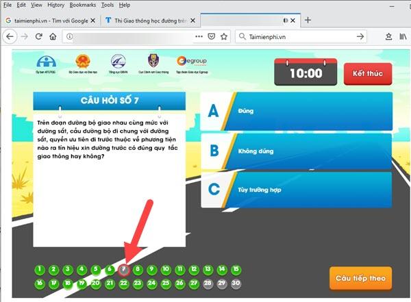 Hướng dẫn thi Giao thông học đường trên giaothonghocduong.com.vn 7