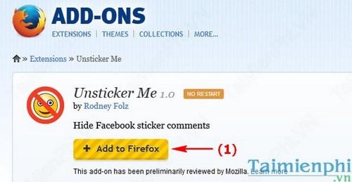 Ẩn biểu tượng cảm xúc Sticker trên Facebook