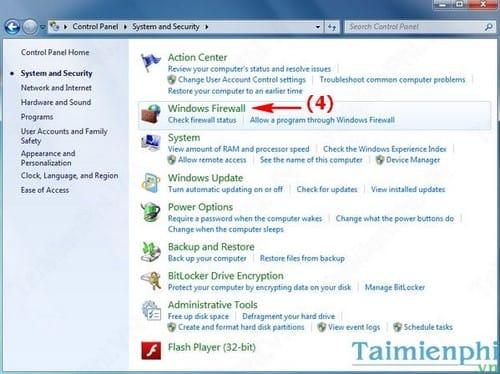 Cách bật, tắt tường lửa máy tính Windows, bật tắt Firewall 3