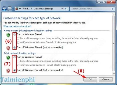 Cách bật, tắt tường lửa máy tính Windows, bật tắt Firewall 5