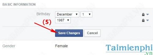 Bỏ hiển thị ngày sinh trên Facebook