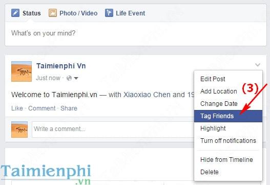 Cách Tag nhiều hơn 20 người trên Facebook