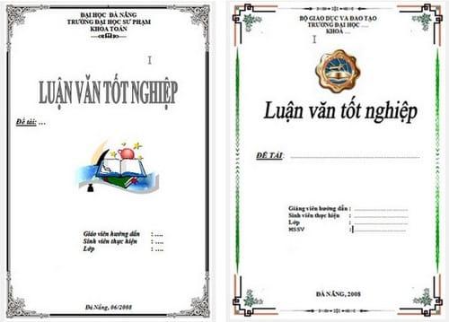 Mẫu bìa giáo án, luận văn, báo cáo đẹp trong Word 3