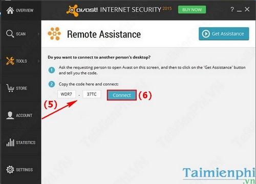 Kết nối máy tính từ xa bằng Avast Internet Security