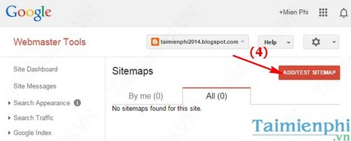 adding blogger sitemap to google master tool