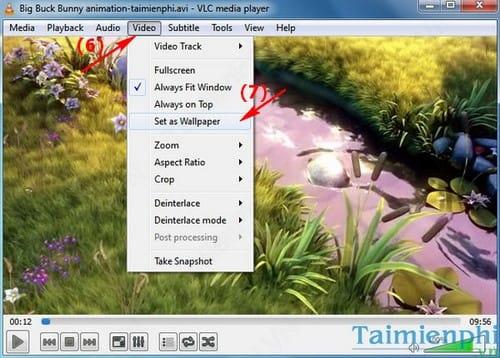 VLC Media Player - Đặt Video đang phát làm hình nền cho máy tính
