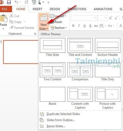 Tạo Slide trong PowerPoint đơn giản và nhanh chóng 2