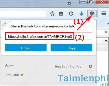 Cách gọi video trên Firefox