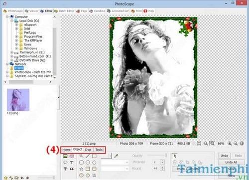 Tạo ảnh đen trắng bằng PhotoScape