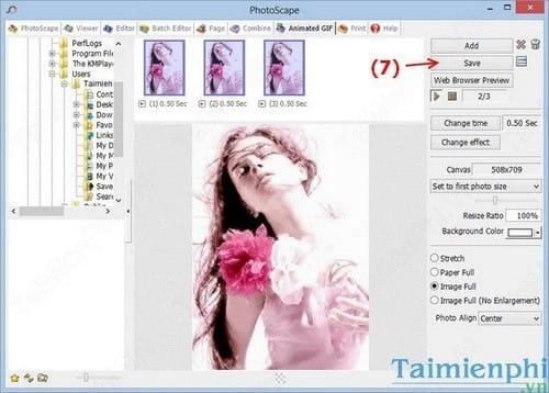 Tạo ảnh động bằng PhotoScape, làm ảnh Gif trên PhotoScape