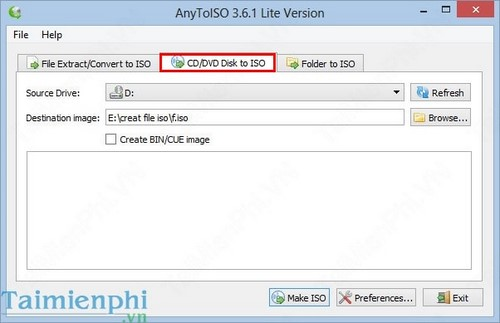 create iso file from folder