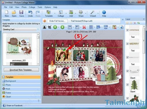 Tạo thiệp Giáng sinh, Noel cực đẹp và đơn giản bằng Picture Collage Maker