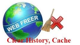 Web Freer - Xóa lịch sử, cache của trình duyệt