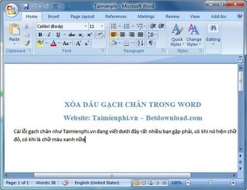 Cách xóa gạch chân trong Word, bỏ dấu gạch đỏ và xanh dưới chữ trong Word 8
