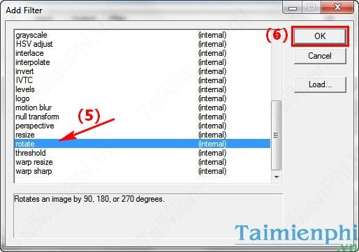 Xoay Video bị ngược, nghiêng 90, 180 độ với VirtualDub
