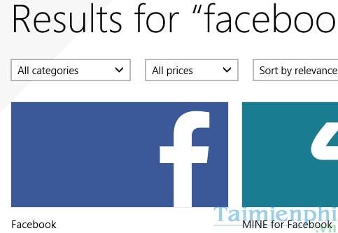 vao facebook tren win 8