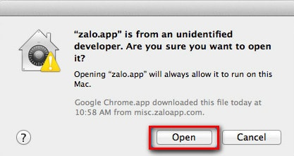 Install and use on Mac computers Zalo