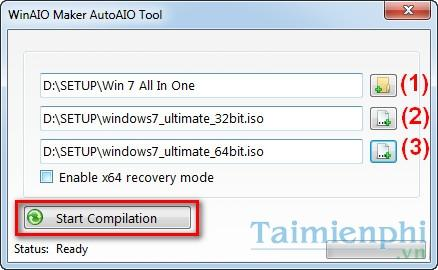 Create ISO file contains multiple versions of Windows (All in One) with WinAIO Maker Professional