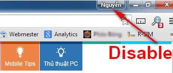 Hướng dẫn xóa menu Avatar trên trình duyệt Chrome