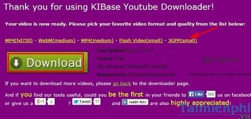 Cách download Video Youtube trên Kibase nhanh và đơn giản
