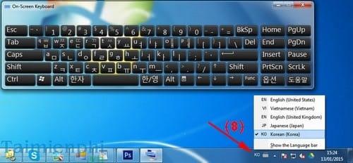 Cách cài đặt bàn phím tiếng Hàn cho hệ điều hành Windows 7/8