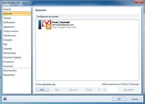 Cách sử dụng Gmail Notifier, xem thư gmail trên desktop
