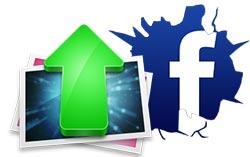 dang anh len facebook