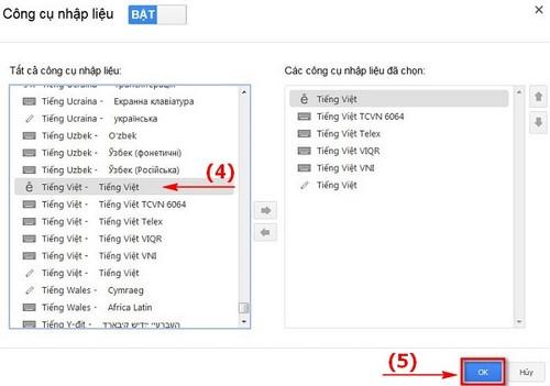 Gõ tiếng việt trong Gmail, soạn mail bằng tiếng Việt