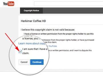 Khiếu nại bản quyền video Youtube