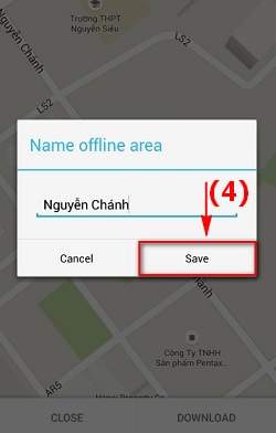 Lưu bản đồ offline trên Google Map