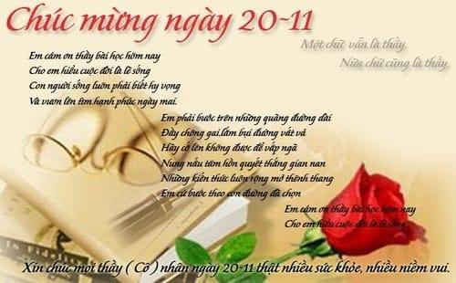 Thơ 20/11, những bài thơ 20 tháng 11 chúc mừng thầy cô giáo hay và ý nghĩa nhất 2