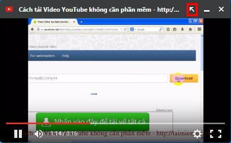 Ghim video trên CocCoc, vừa duyệt web vừa xem video Youtube trên Cốc Cốc