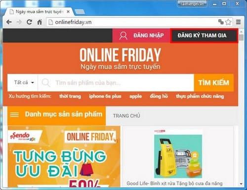dang ky online friday